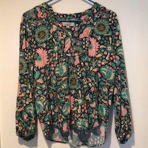 Floral bohemian top